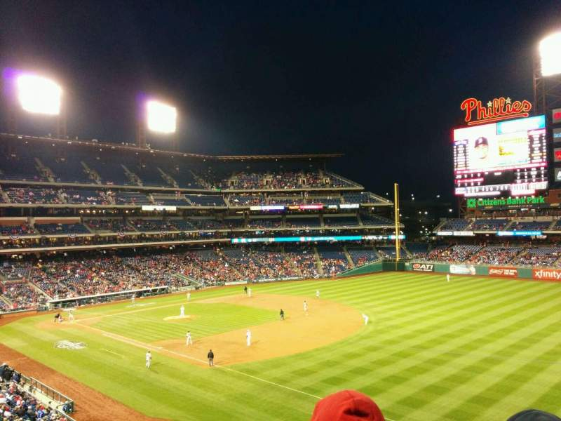 Seating view for Citizens Bank Park Section 209 Row 3 Seat 11