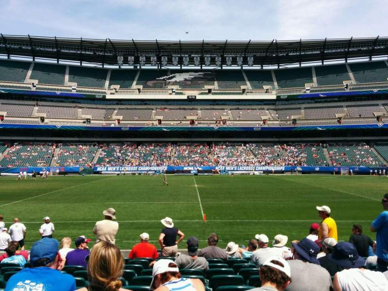 Seating view for Lincoln Financial Field Section 101 Row 11 Seat 15