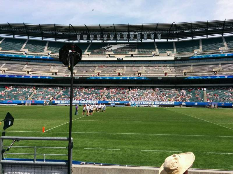 Seating view for Lincoln Financial Field Section 102 Row 4 Seat 23