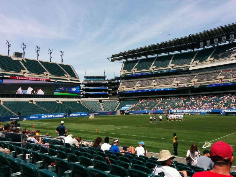 Seating view for Lincoln Financial Field Section 103 Row 9 Seat 3
