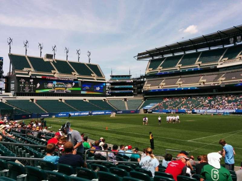 Seating view for Lincoln Financial Field Section 104 Row 12 Seat 12