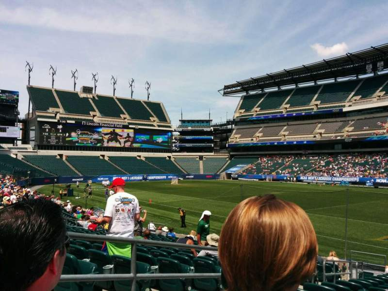 Seating view for Lincoln Financial Field Section 105 Row 16 Seat 23