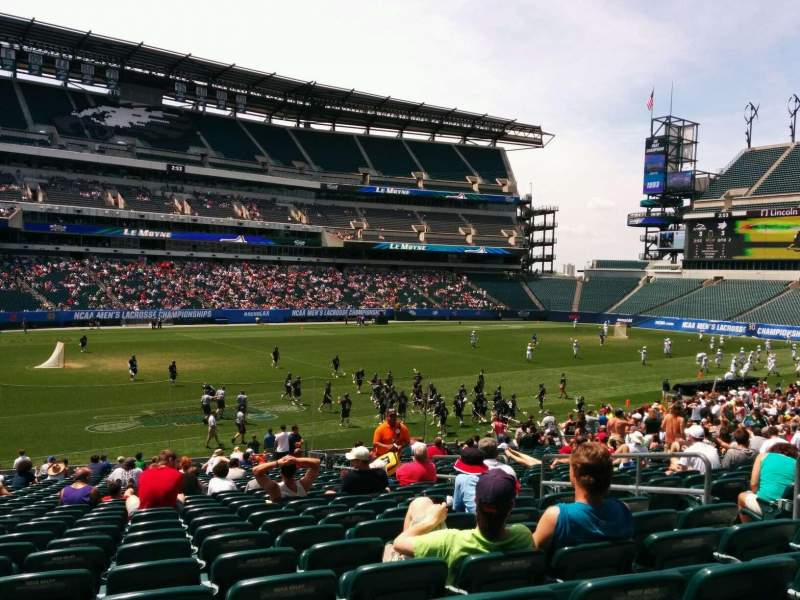 Seating view for Lincoln Financial Field Section 116 Row 28 Seat 8