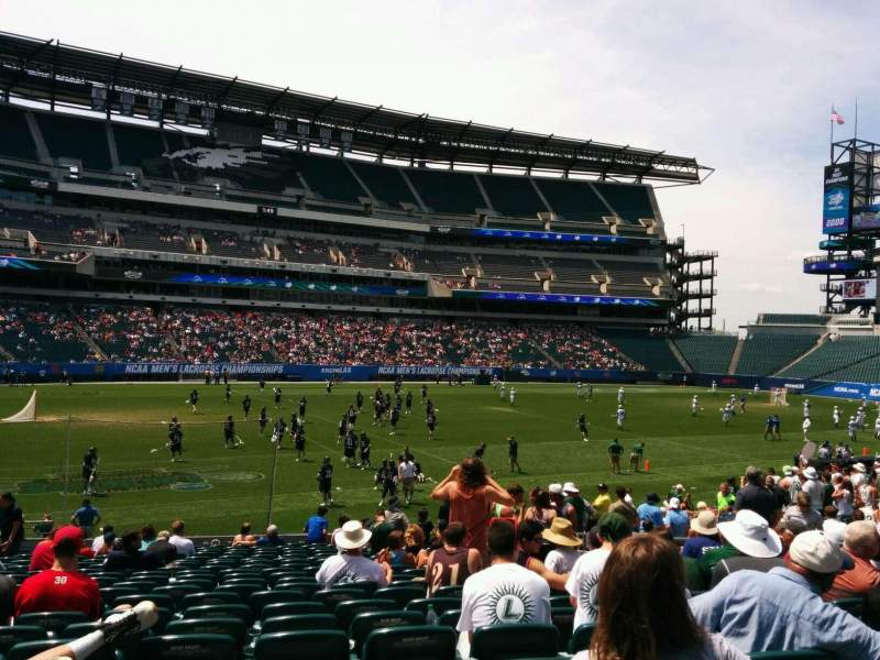Seating view for Lincoln Financial Field Section 117 Row 21 Seat 14
