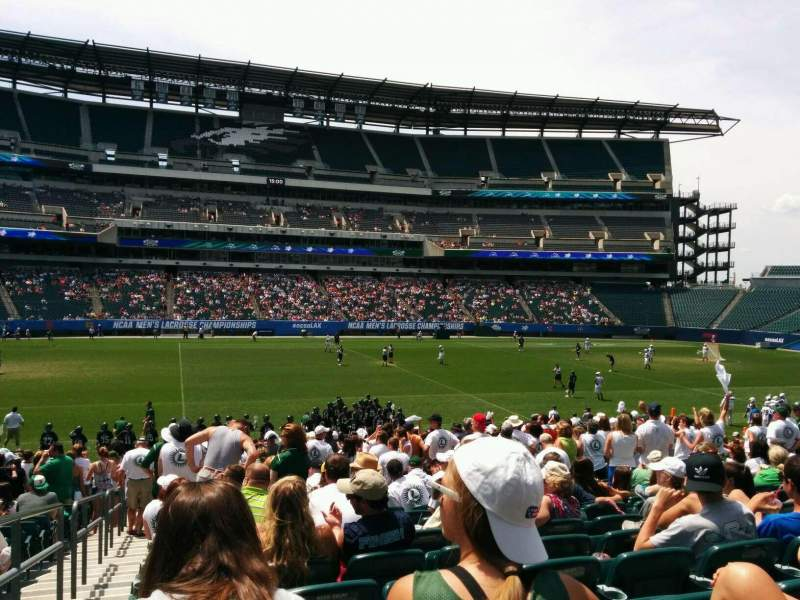 Seating view for Lincoln Financial Field Section 119 Row 23 Seat 24