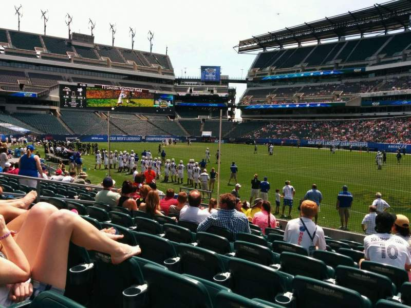 Seating view for Lincoln Financial Field Section 124 Row 9 Seat 15