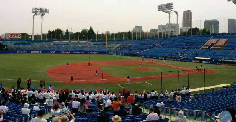 Seating view for Jingu Stadium Section 11 Row 31 Seat 117