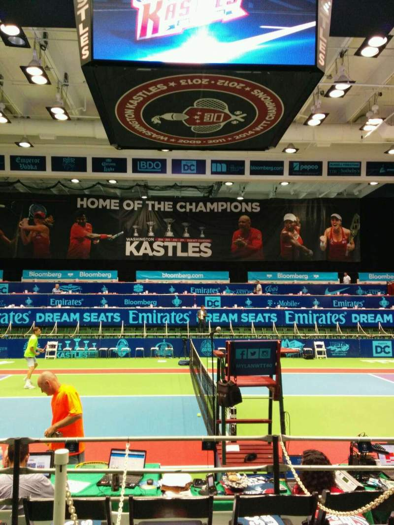 Seating view for Kastles Stadium Section 113 Row A Seat 9