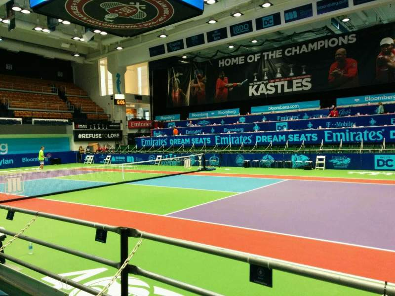 Seating view for Kastles Stadium Section box 34 Row 2 Seat 2
