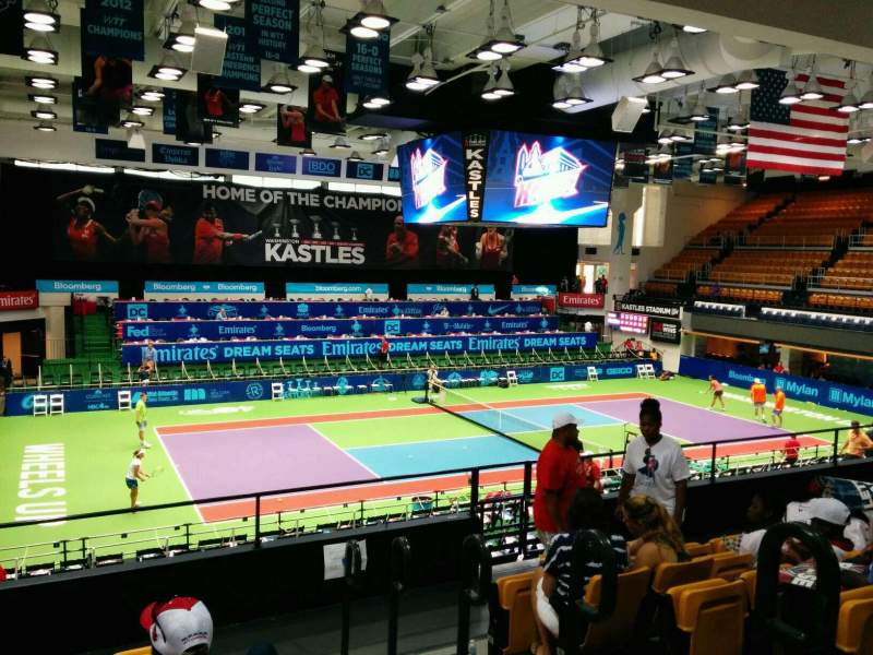 Seating view for Kastles Stadium Section 217 Row g Seat 2