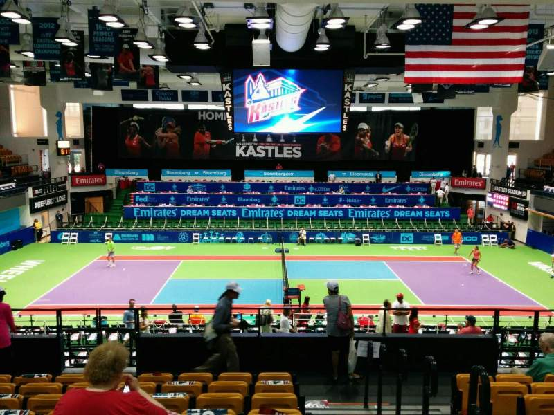 Seating view for Kastles Stadium Section 215 Row J Seat 1