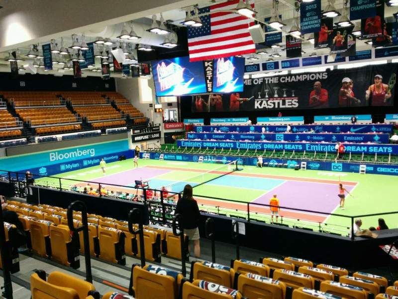 Seating view for Kastles Stadium Section 212 Row H Seat 1