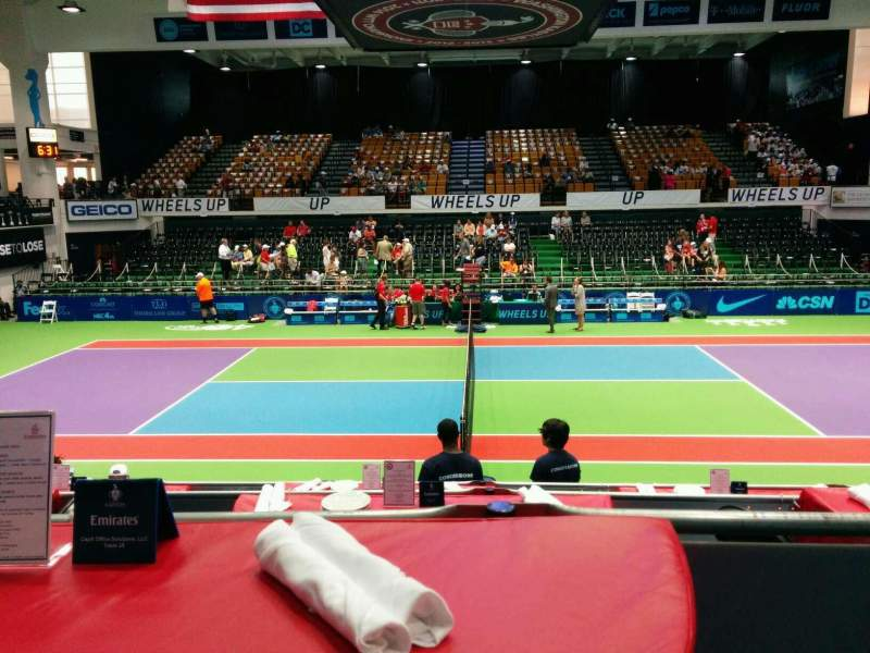 Seating view for Kastles Stadium Section Table 28 Row 1 Seat 2