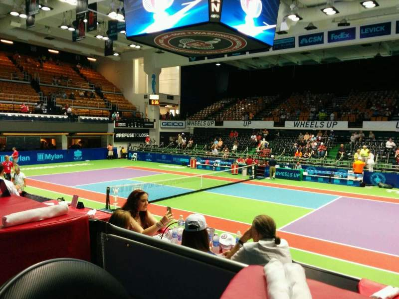 Seating view for Kastles Stadium Section Table12 Row 1 Seat 3