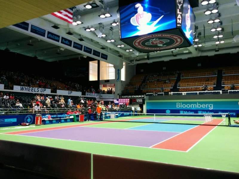 Seating view for Kastles Stadium Section baseline Row 2 Seat 4