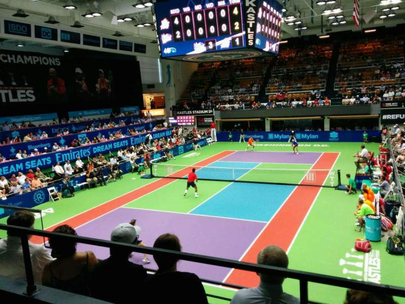 Seating view for Kastles Stadium Section 219 Row A Seat 4
