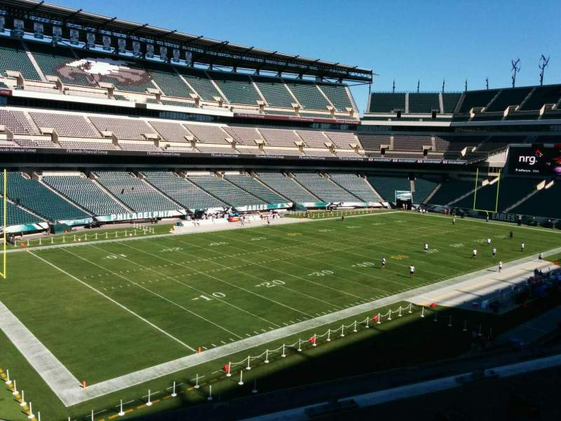 Seating view for Lincoln Financial Field Section c35 Row 3 Seat 8