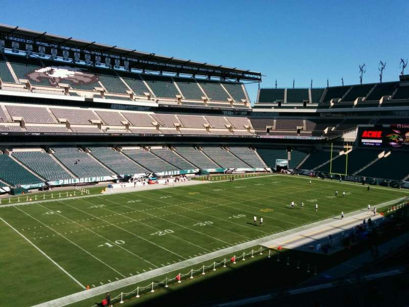 Seating view for Lincoln Financial Field Section C36 Row 5 Seat 19