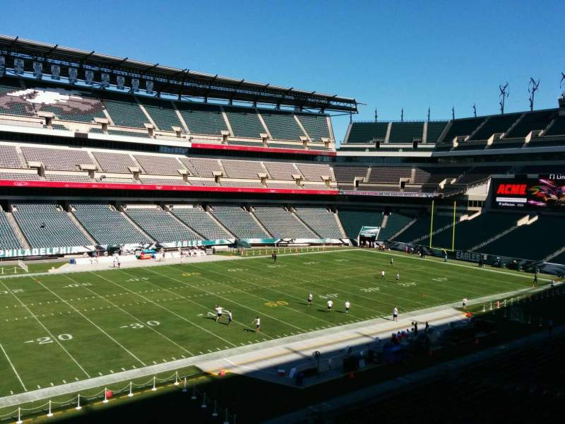 Seating view for Lincoln Financial Field Section C37 Row 1 Seat 6