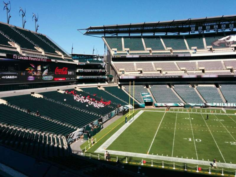 Seating view for Lincoln Financial Field Section v37 Row 1 Seat 6