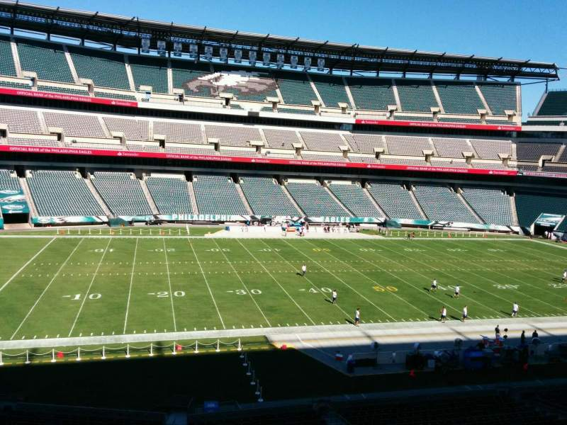 Seating view for Lincoln Financial Field Section c38 Row 4 Seat 1