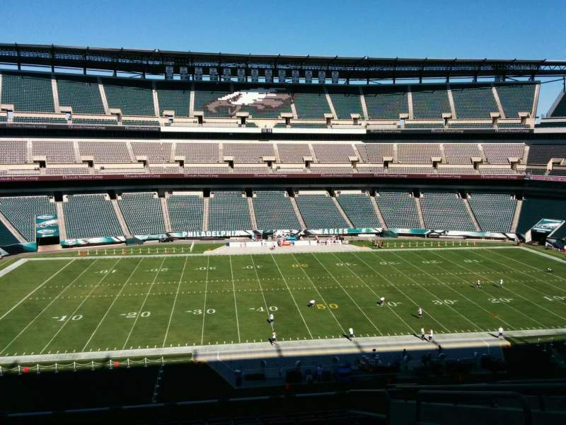 Seating view for Lincoln Financial Field Section c39 Row 18 Seat 3