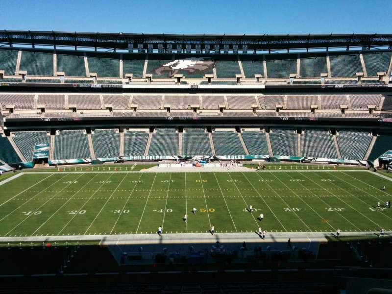 Seating view for Lincoln Financial Field Section c40 Row 19 Seat 1