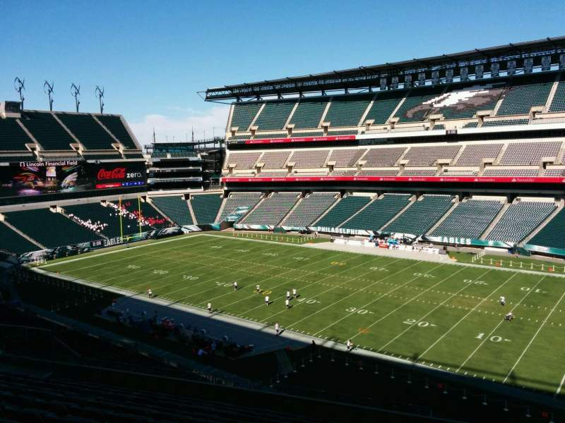 Seating view for Lincoln Financial Field Section c4 Row 17 Seat 7