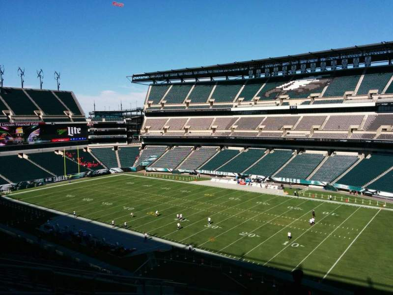 Seating view for Lincoln Financial Field Section c5 Row 18 Seat 16