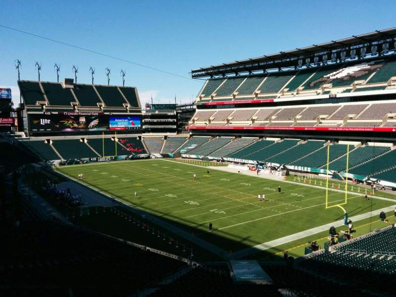 Seating view for Lincoln Financial Field Section swt-1 Row 3 Seat 38