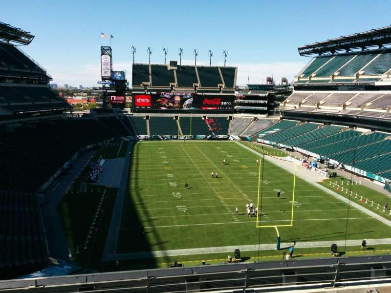 Seating view for Lincoln Financial Field Section m10 Row 17 Seat 19