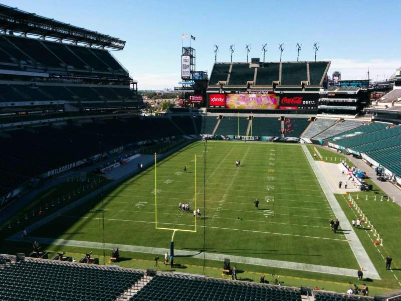 Seating view for Lincoln Financial Field Section m12 Row 13 Seat 21