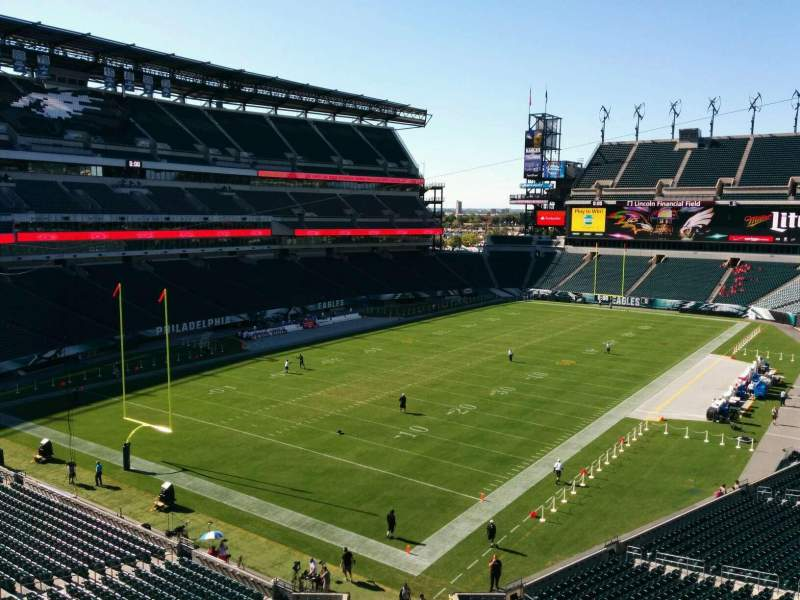 Seating view for Lincoln Financial Field Section m14 Row 81 Seat 9