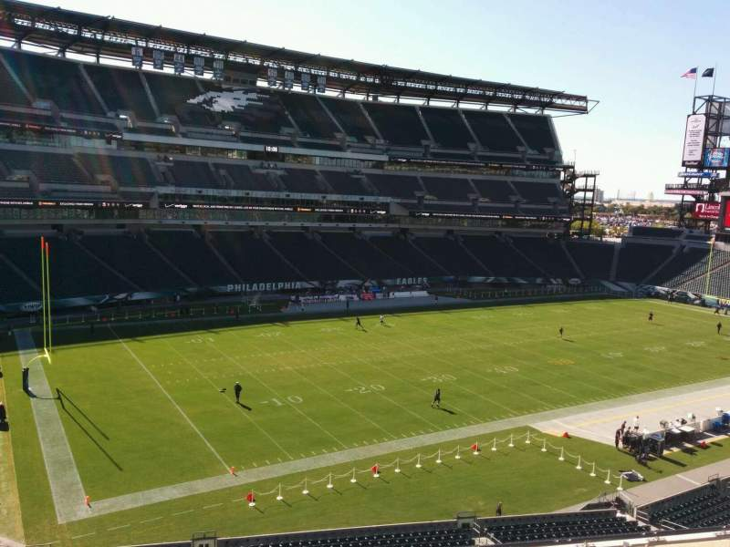 Seating view for Lincoln Financial Field Section c17 Row 8 Seat 9