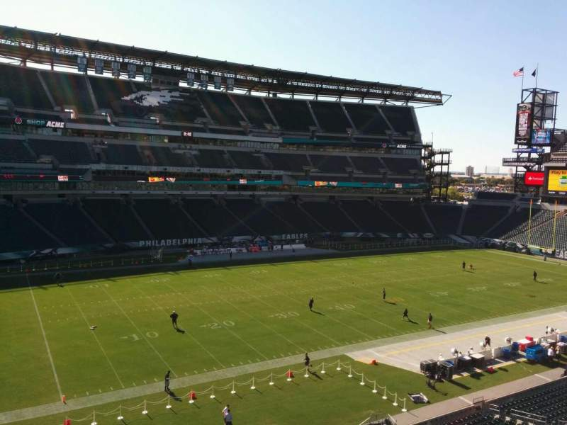 Seating view for Lincoln Financial Field Section c18 Row 6 Seat 18