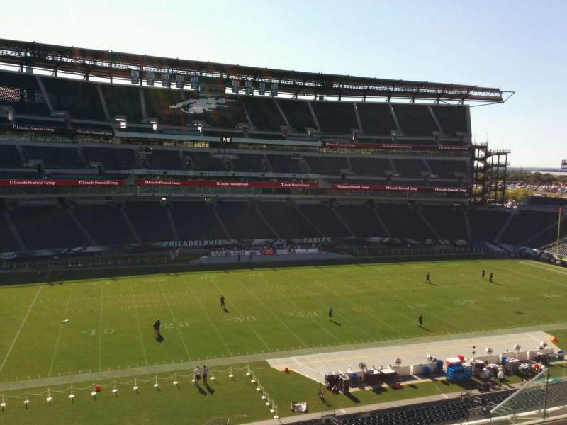 Seating view for Lincoln Financial Field Section c19 Row 12 Seat 10
