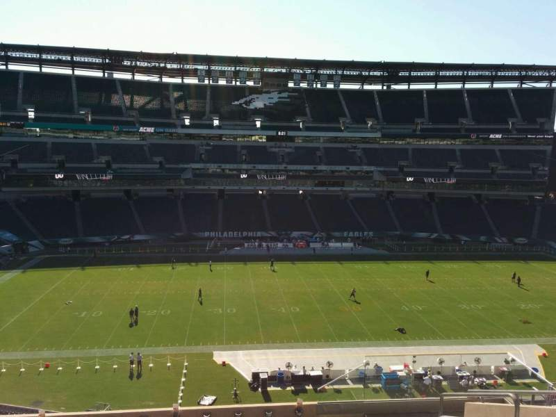 Seating view for Lincoln Financial Field Section c20 Row 15 Seat 5