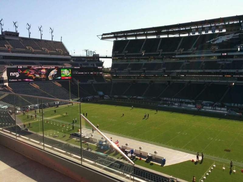 Seating view for Lincoln Financial Field Section c24 Row 8 Seat 14