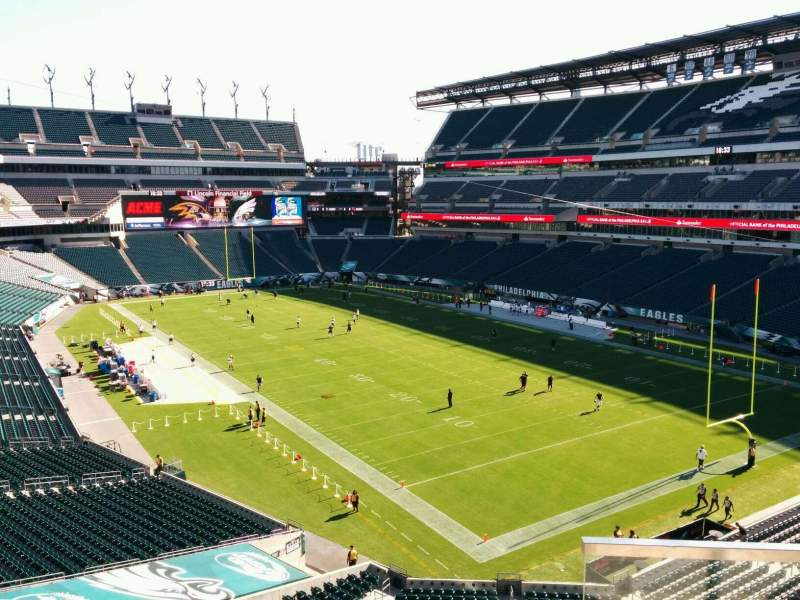 Seating view for Lincoln Financial Field Section NE Terrace 3 Row 3 Seat 33