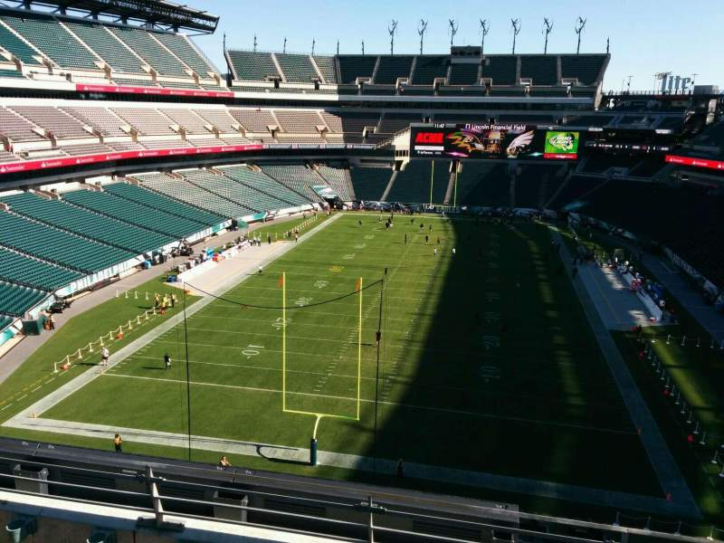 Seating view for Lincoln Financial Field Section 236 Row 4 Seat 1