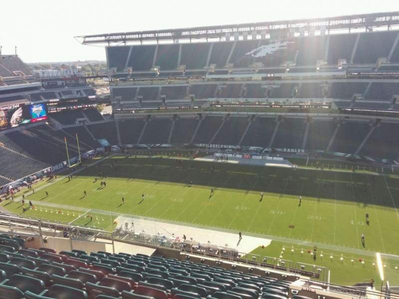 Seating view for Lincoln Financial Field Section 227 Row 16 Seat 11