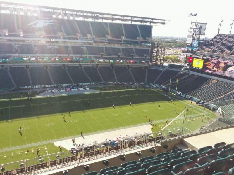 Seating view for Lincoln Financial Field Section 223 Row 10 Seat 10