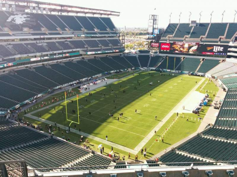 Seating view for Lincoln Financial Field Section 217 Row 9 Seat 15