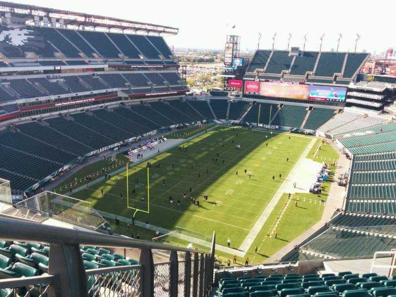 Seating view for Lincoln Financial Field Section 216 Row 15 Seat 12