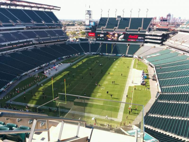 Seating view for Lincoln Financial Field Section 215 Row 10 Seat 18