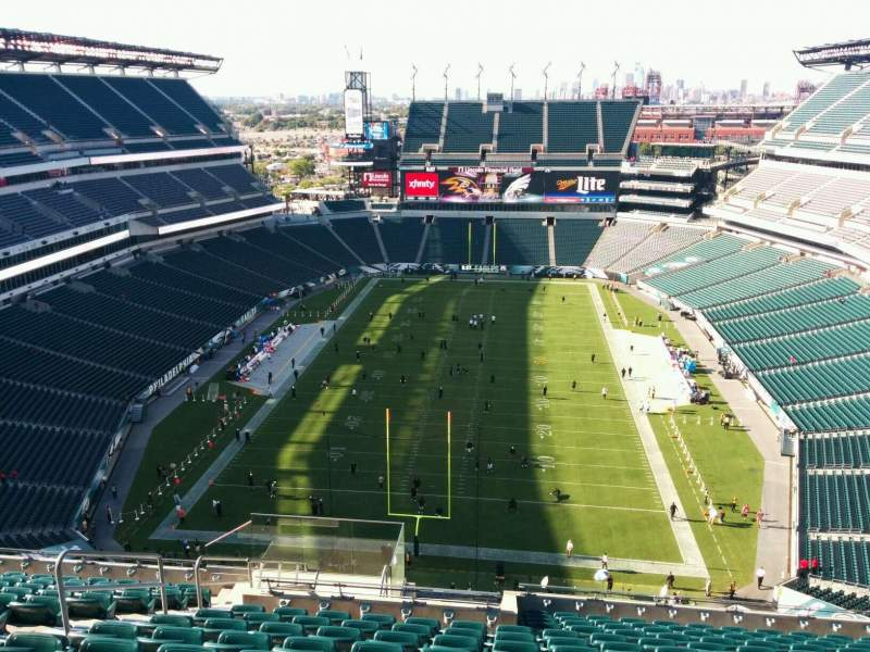 Seating view for Lincoln Financial Field Section 213 Row 18 Seat 15