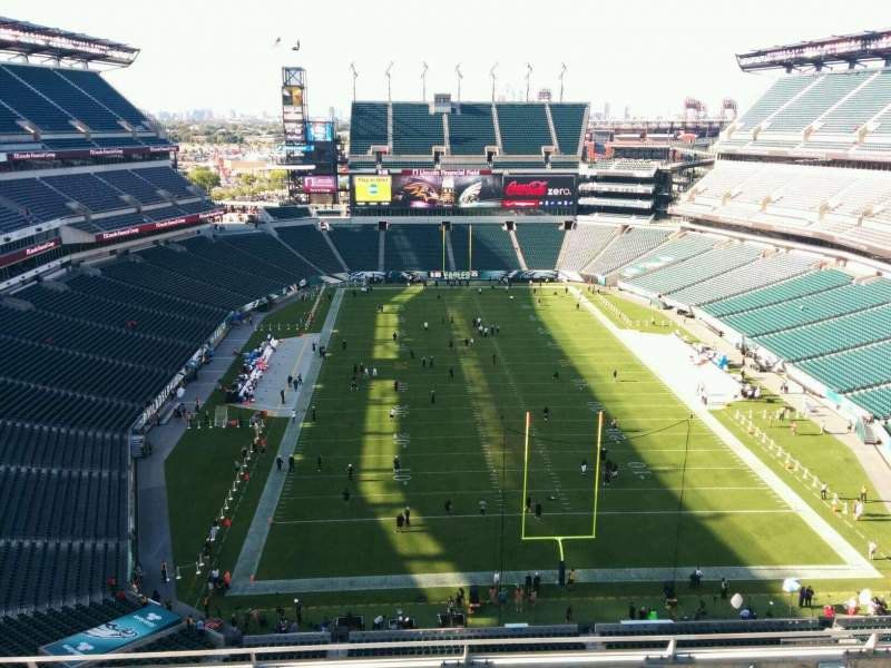 Seating view for Lincoln Financial Field Section 211 Row 9 Seat 15