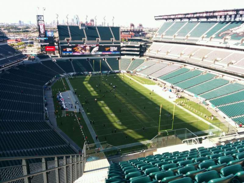 Seating view for Lincoln Financial Field Section 209 Row 17 Seat 24