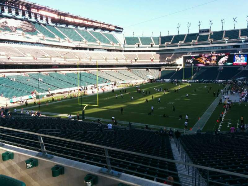 Seating view for Lincoln Financial Field Section 131 Row 37 Seat 3