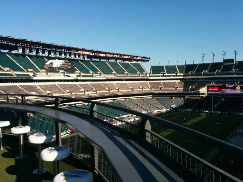 Seating view for Lincoln Financial Field Section Bud Light Eagles Nest